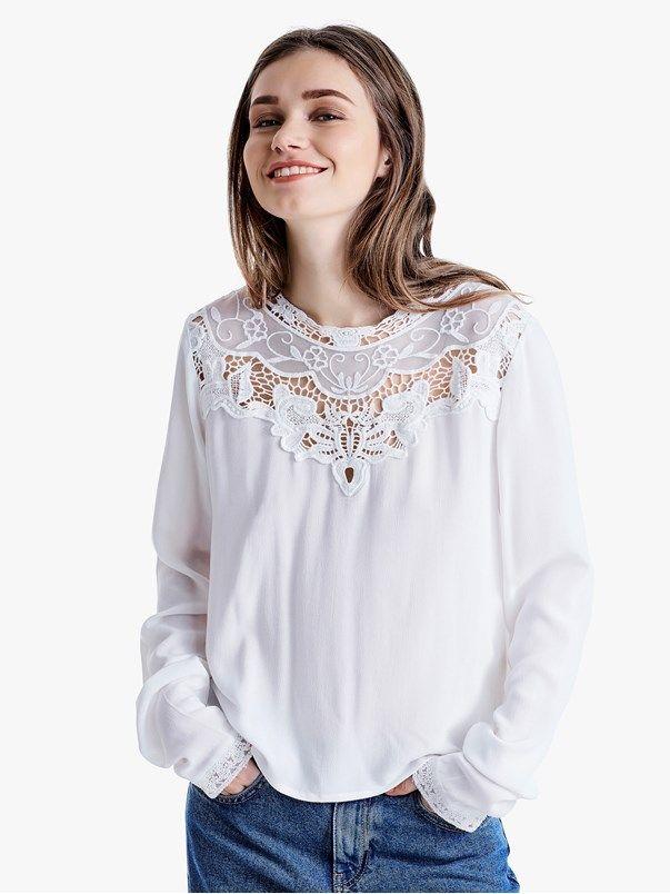 Goa blouse | | Valkoinen | BikBok | Suomi