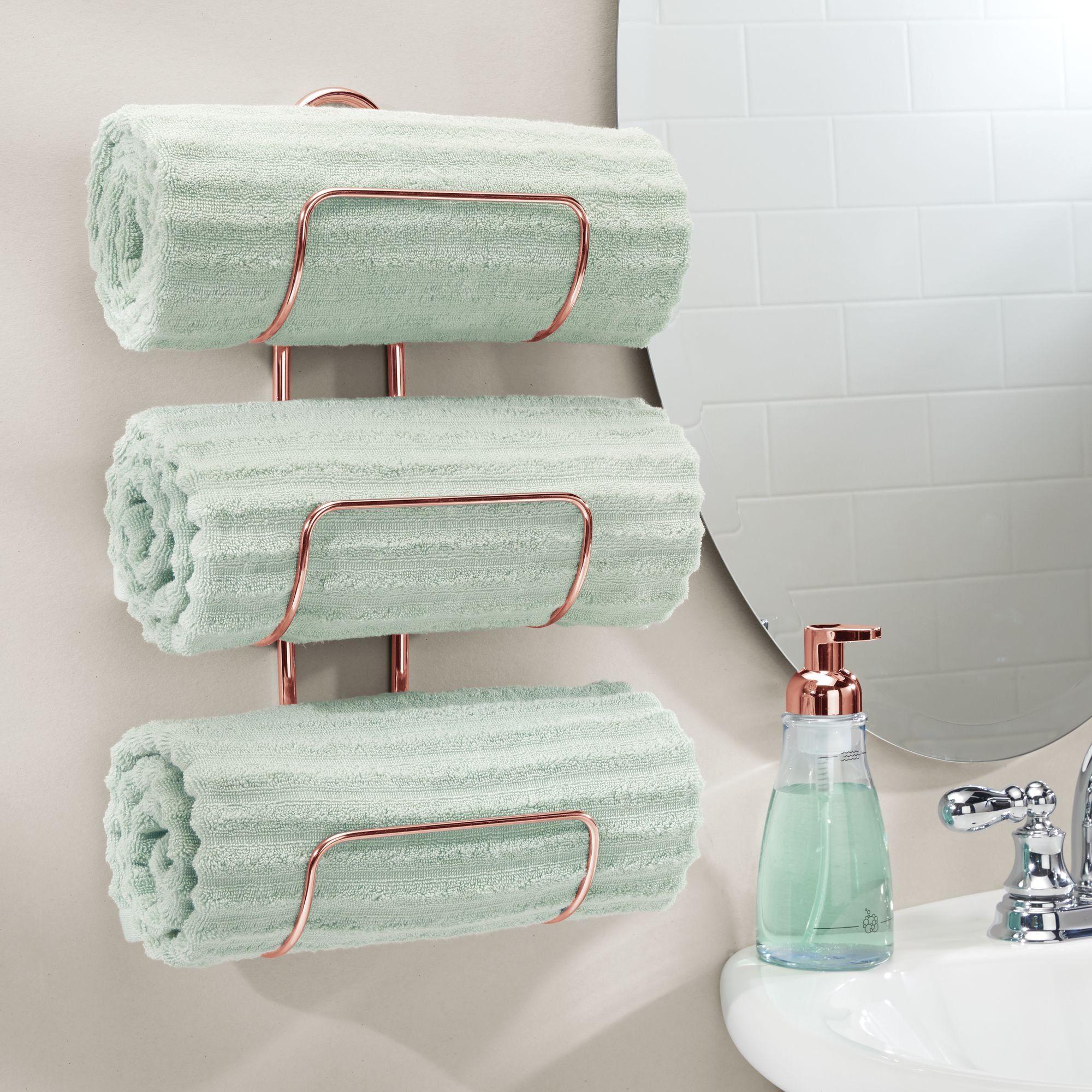 bathroom wall mount towel rack holder