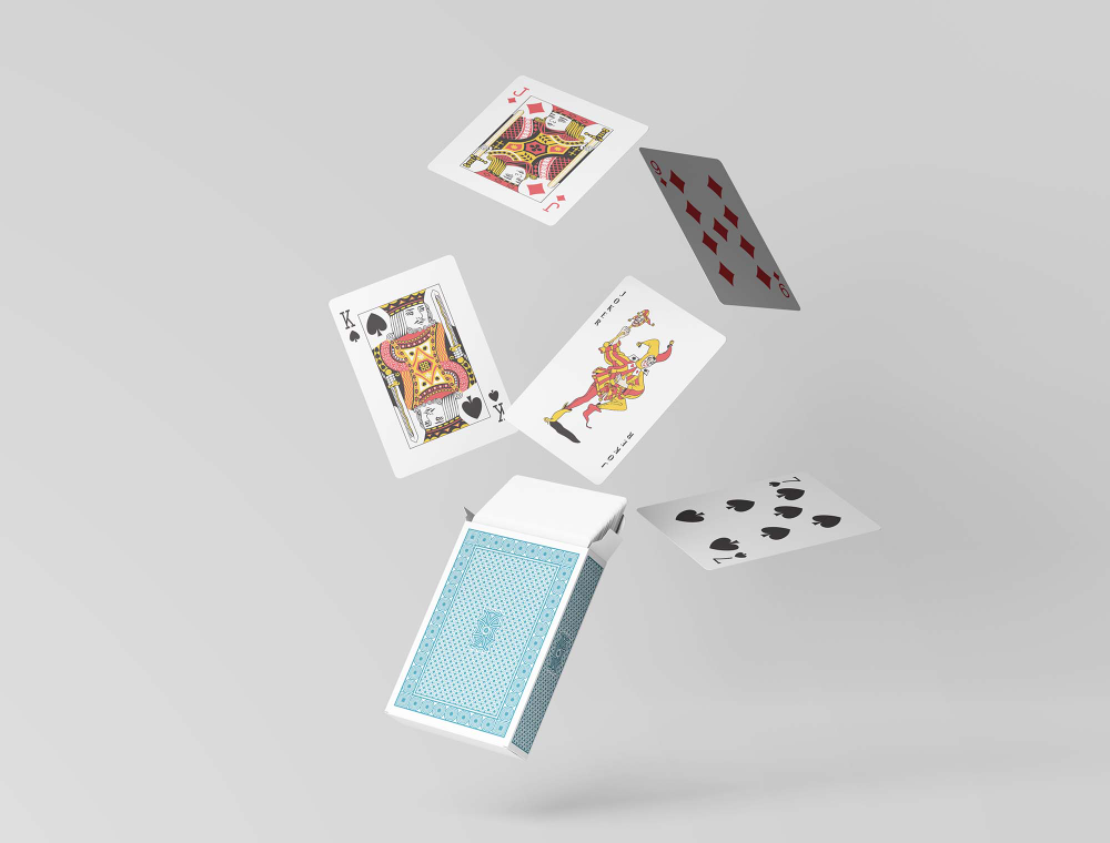 Free Playing Cards With Box Mockup Psd Playing Cards Box Mockup Playing Card Box
