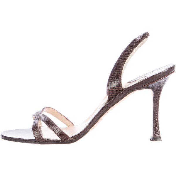 Pre-owned - Lizard heels Manolo Blahnik nIv4LCgy