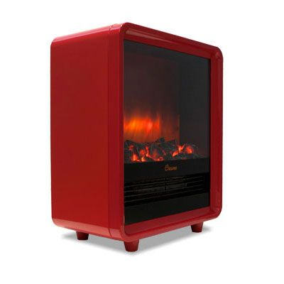 Stay Warm This Winter With Our Red Electric Fireplace Heater
