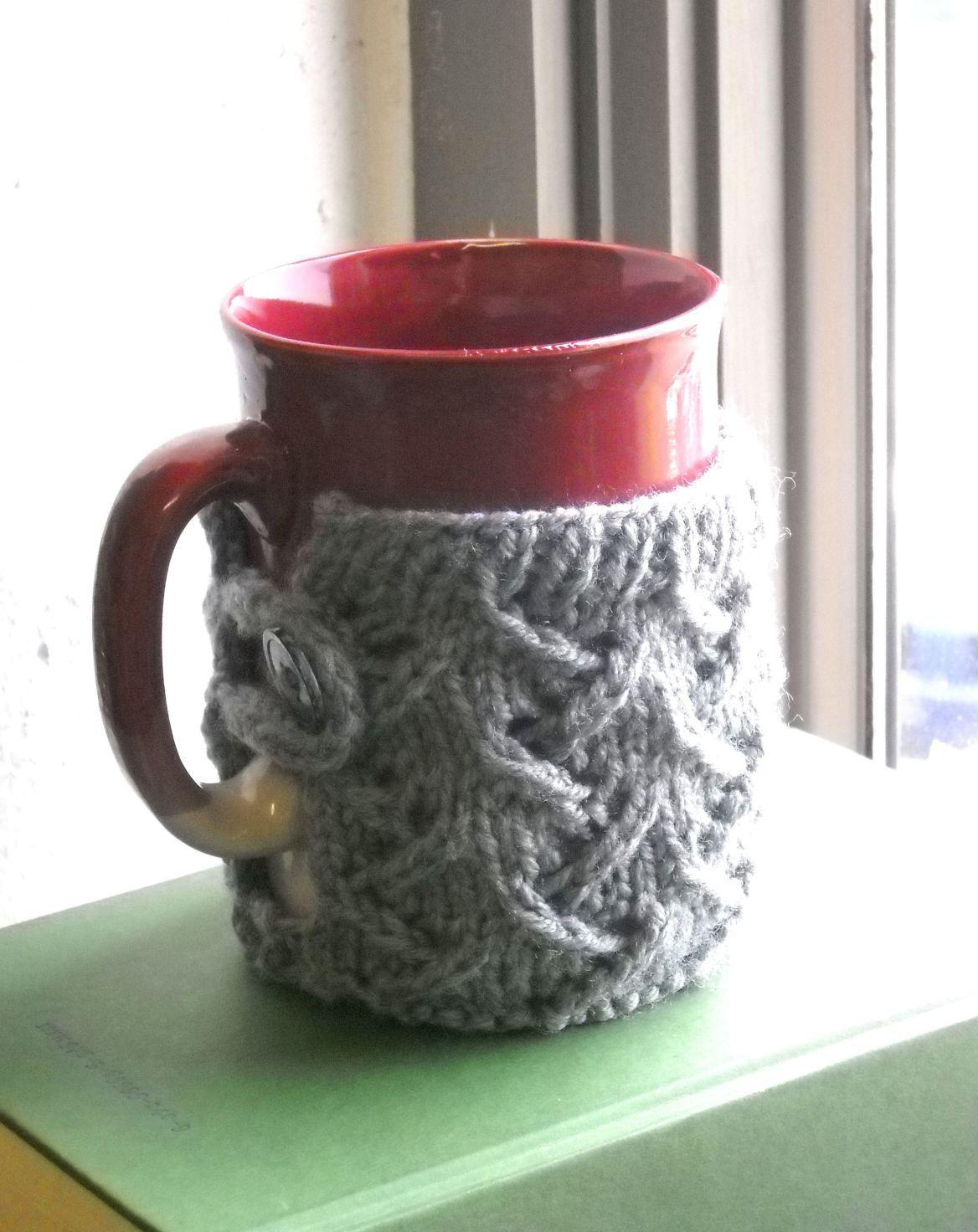 Mug Sweater | Mugs, Mug cozy pattern, Knitting