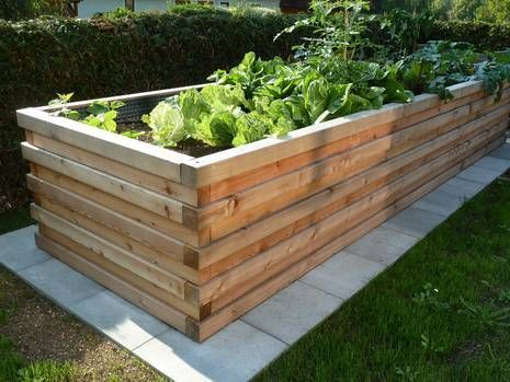 Build The Raised Bed Yourself Step By Step Instructions Pallets Garden