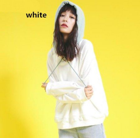 Color block hoodie for women white pullover hoodie