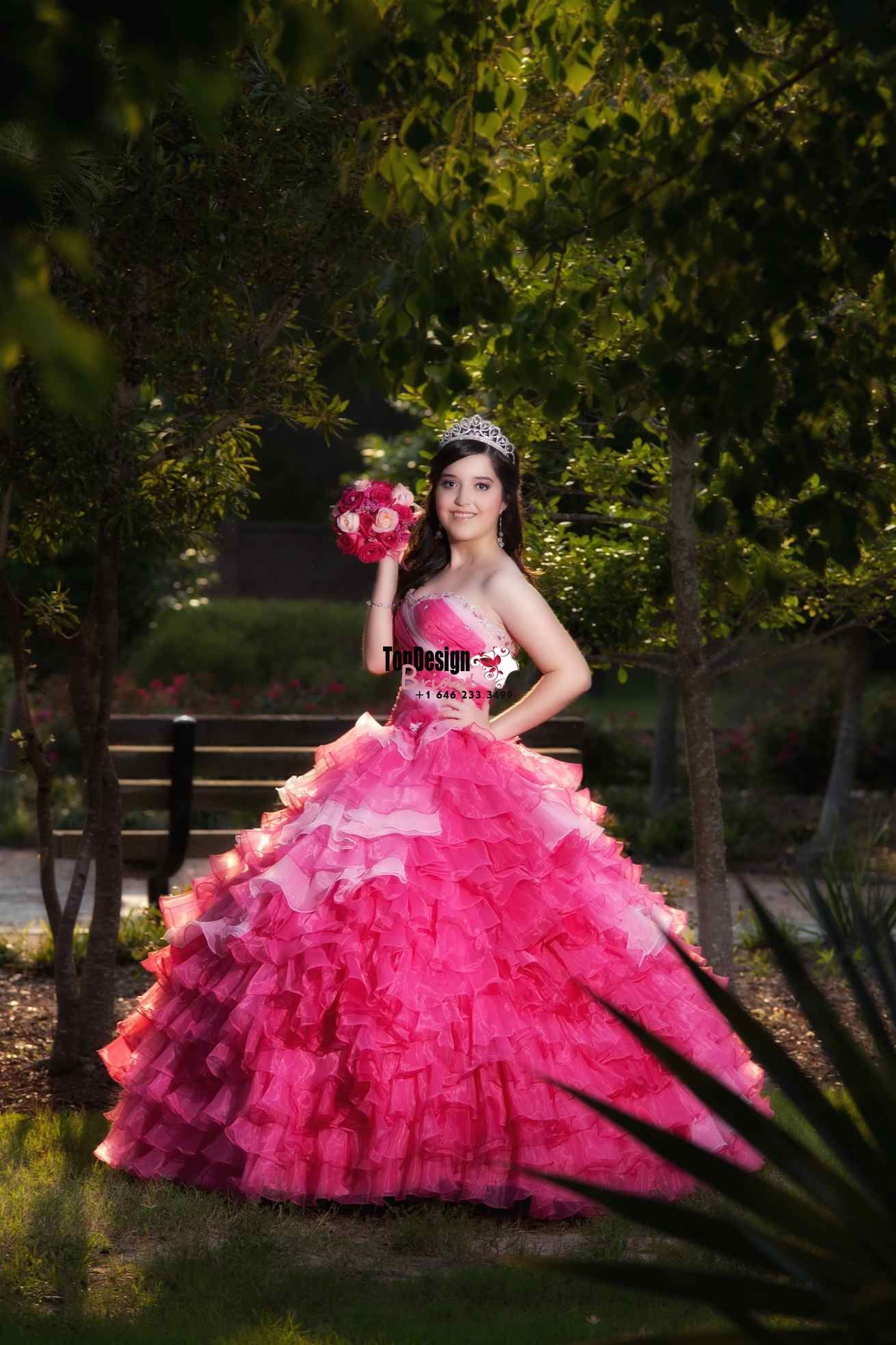 new beaded sweet ball gown twotones pink satin organza prom