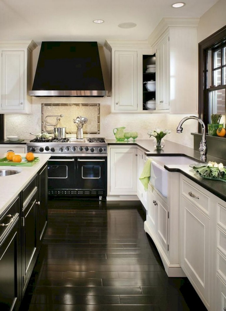 White With Black Countertops 12 Inspiring