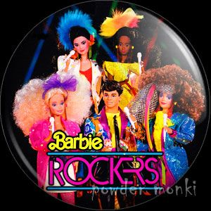 popular stores exquisite style new appearance Retro Toy Badge/Magnet - Barbie & The Rockers - Group ~ www ...