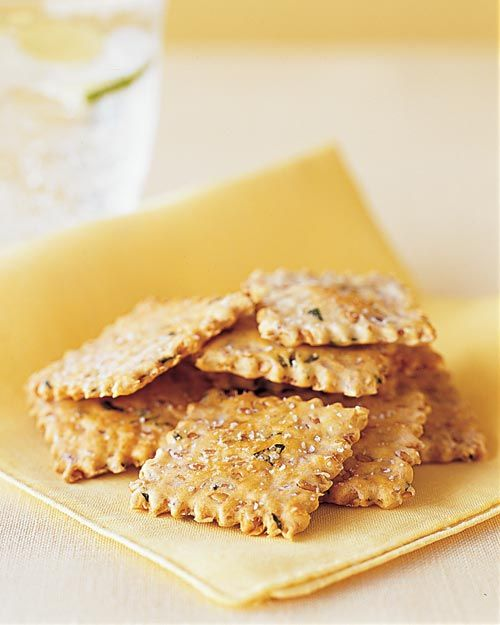 Flaxseed and Onion Crackers - Whole Living Eat Well