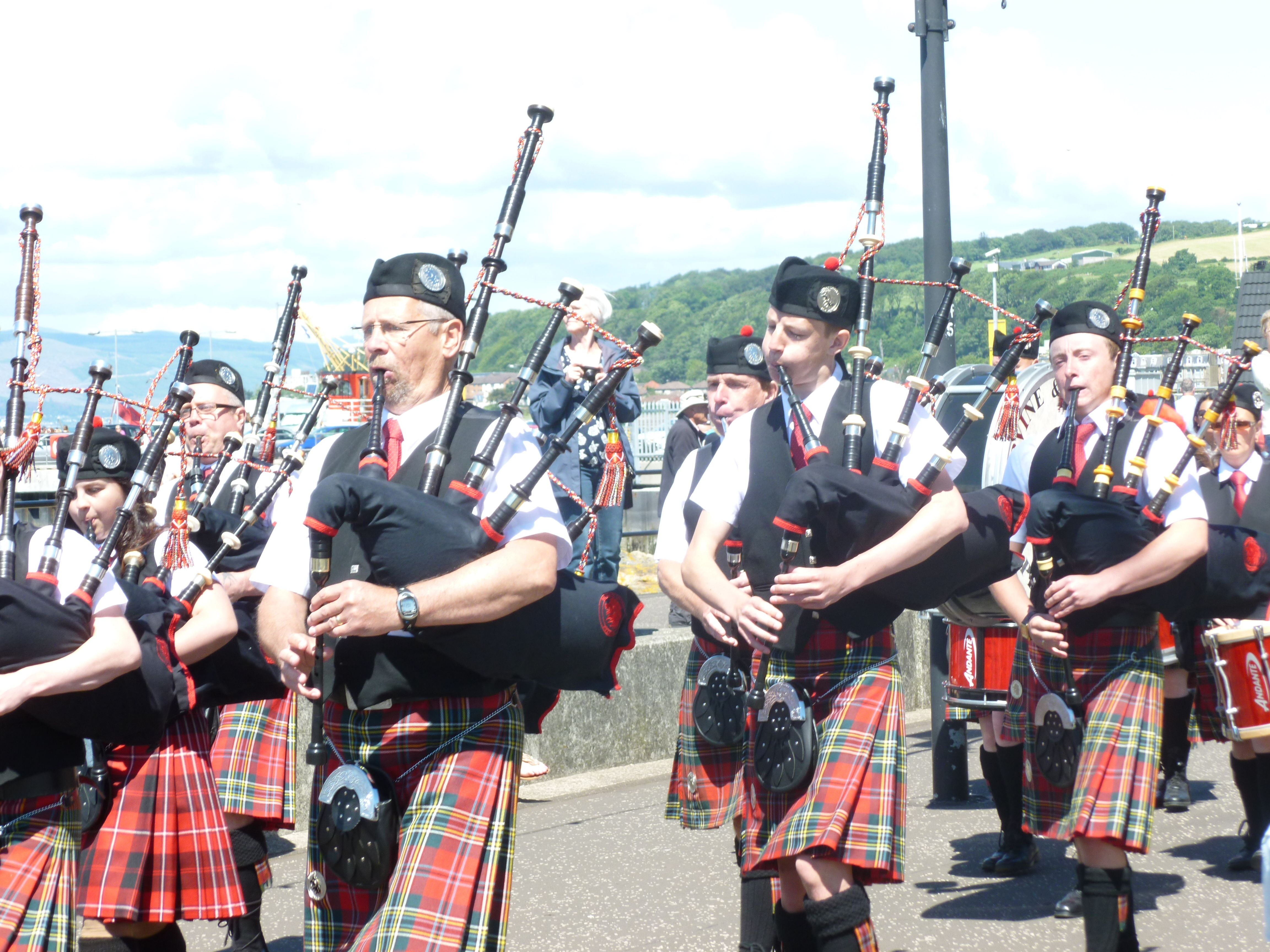 Largs Highland Games Parade Greenock, Photo, Glasgow