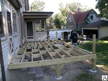 Best Decking Over Concrete Stairs Building A Deck Diy Deck 400 x 300