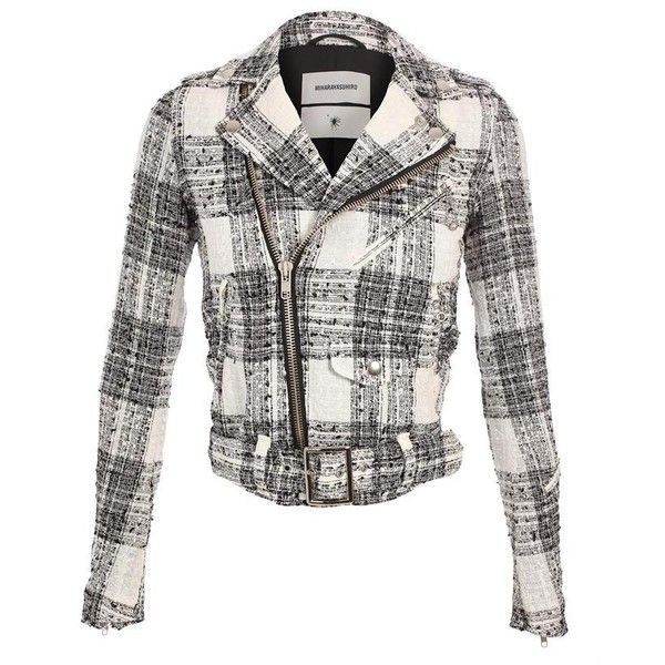 MIHARAYASUHIRO Exclusive: Tweed biker jacket ($910) found on Polyvore