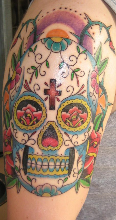 c10631808e5f3 Pin by Michele Dake on day of the dead tattoos..   Mexican tattoo ...
