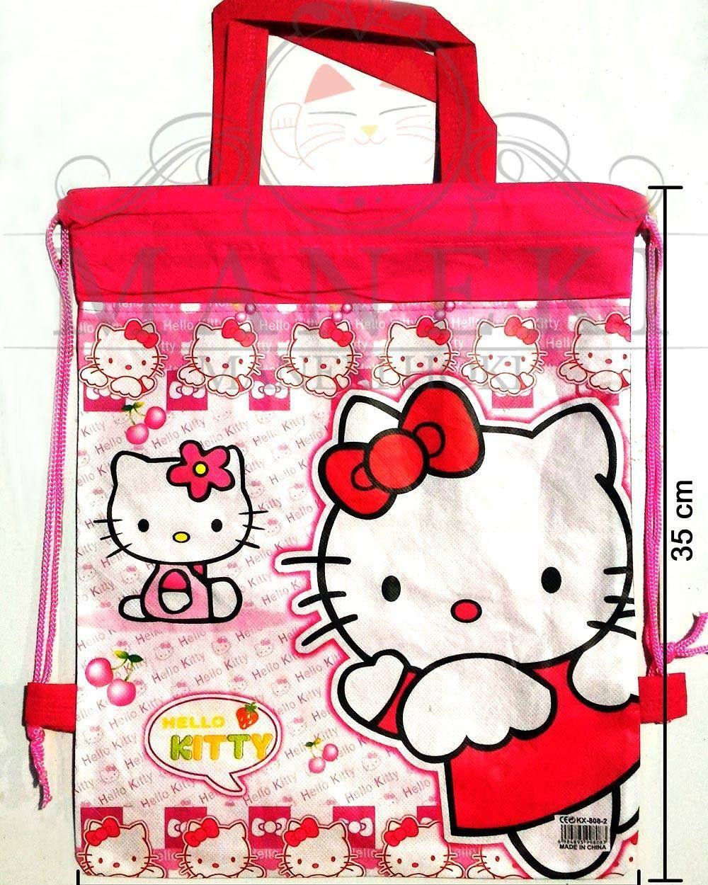 Tas Ransel Serut Hello Kitty bisa juga jadi Goody Bag