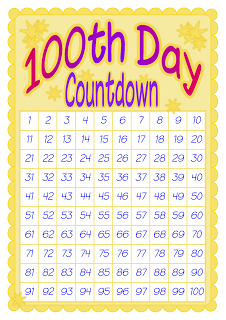 Sweet image pertaining to 100 day countdown printable