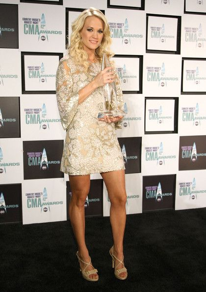Carrie Underwood White Mini Dress