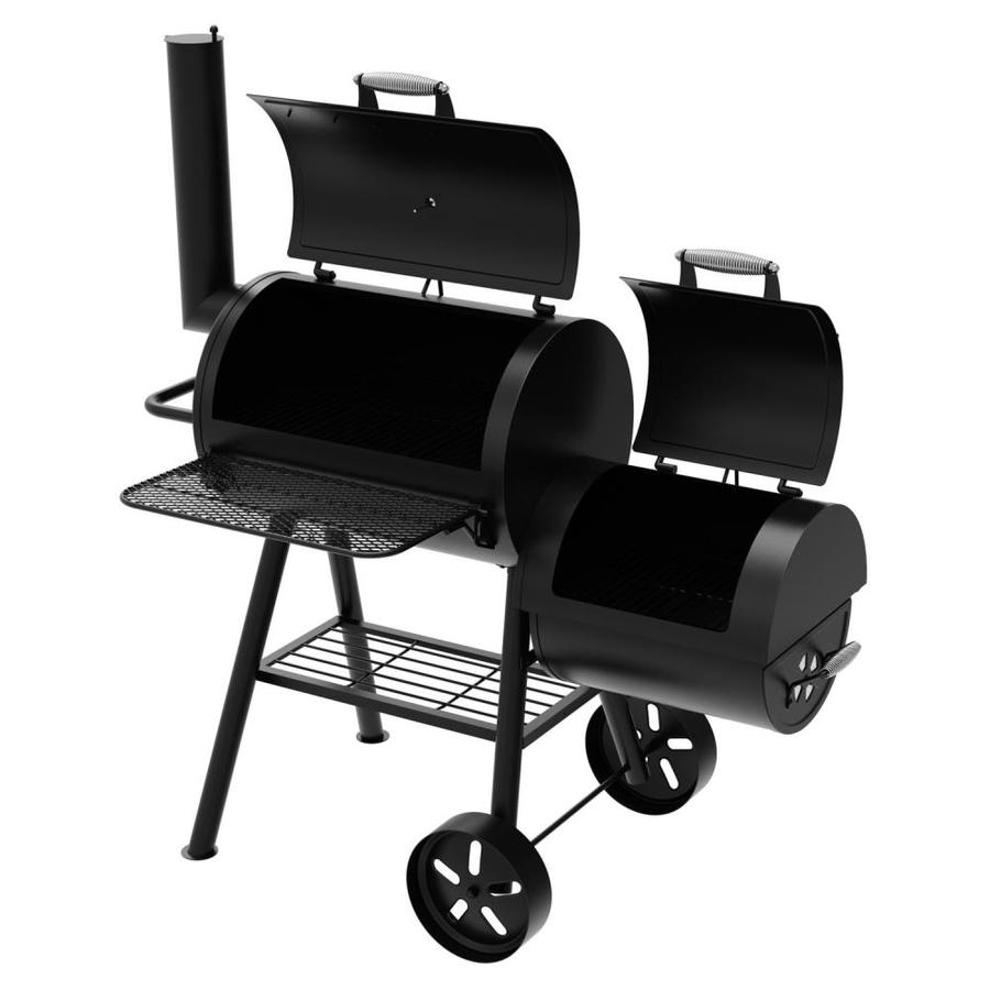 Dyna Glo Signature Series 37 In Black Barrel Charcoal Grill Lowes Com Offset Smoker Charcoal Grill Charcoal Smoker