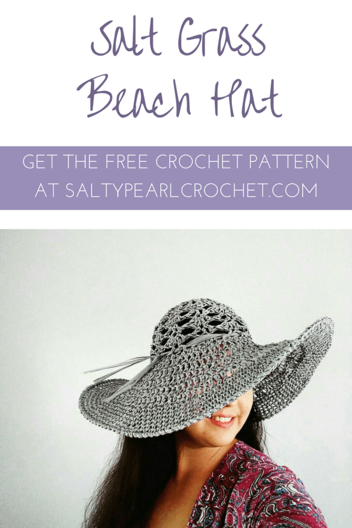 Crochet Beach Hat Free Pattern - the Salt Grass Hat | Patrones de ...