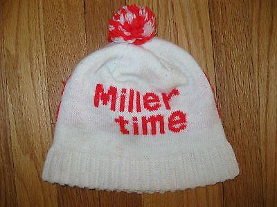 Vtg Miller Lite  Miller High Life Beer Drinking Winter Hat T-shirt ... df10319872a
