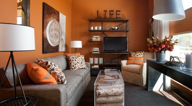 15 Close To Fruity Orange Living Room Design Home Interior House