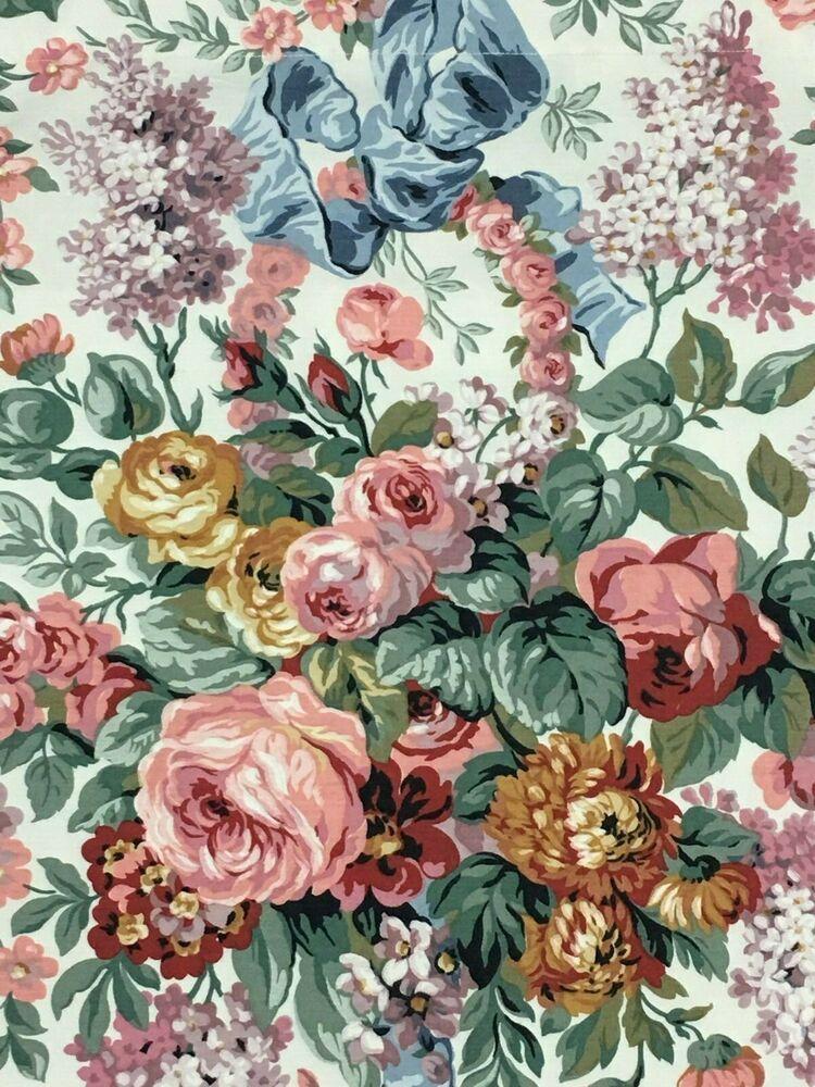 Vtg Ralph Lauren Allison Floral Curtains Panels 41 X 61 Lined