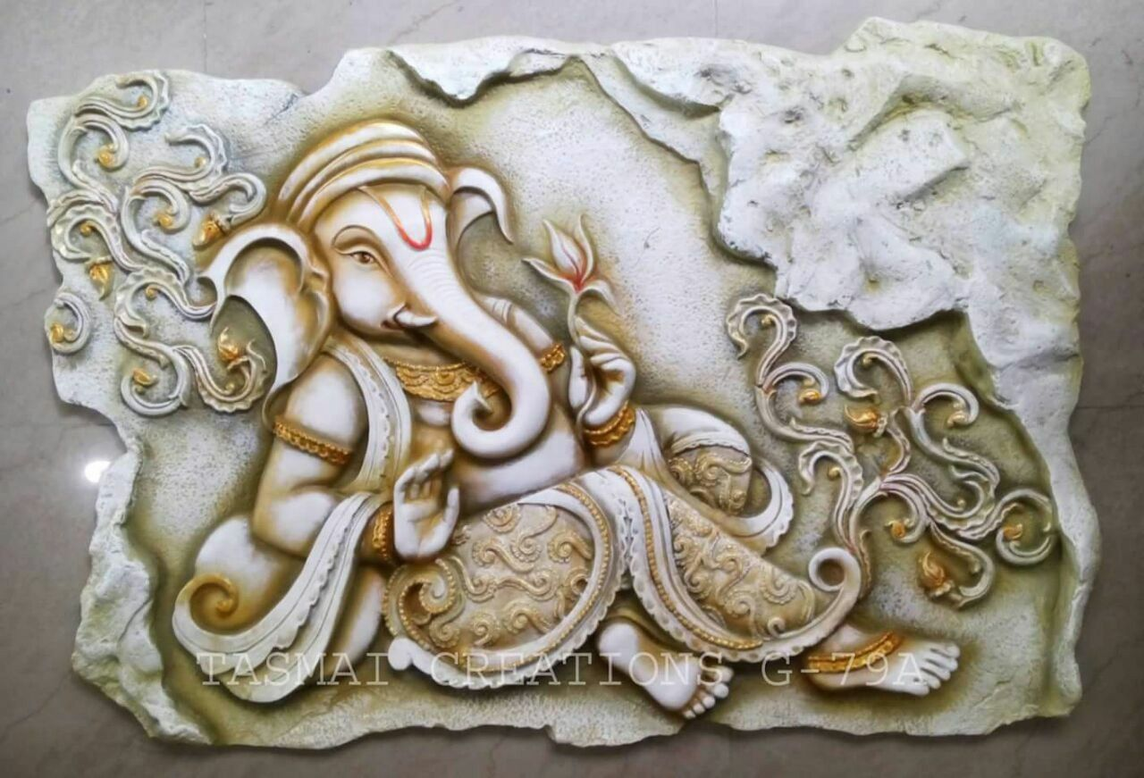 Ganpathi Clay Wall Art Ganesha Painting Mural Art