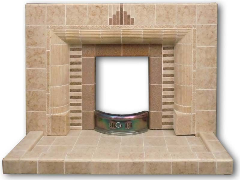 A substantial 1940s /50s tiled fireplace   Cottage   Pinterest ...