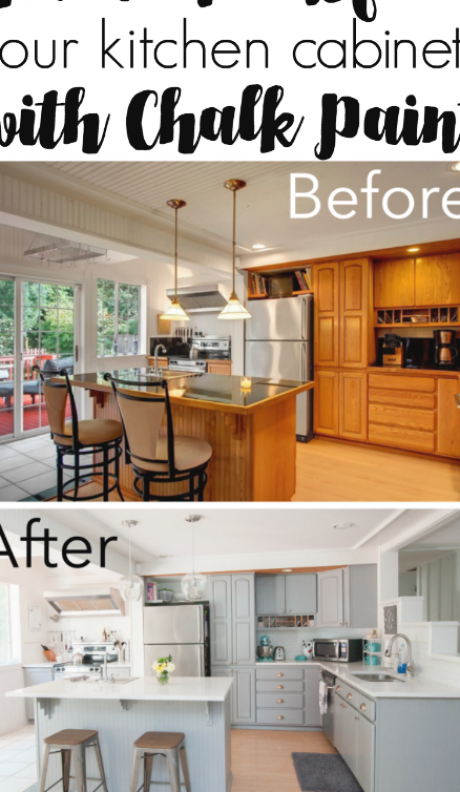 Chalk Paint Kitchen Cabinets Refacing, How To Chalk Paint Cabinets
