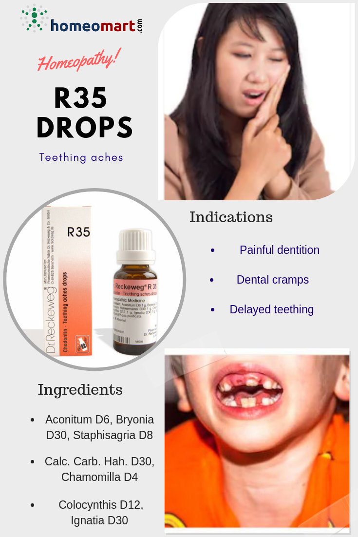 Dr Reckeweg R35 Teething Aches Drops, Buy online get upto 15