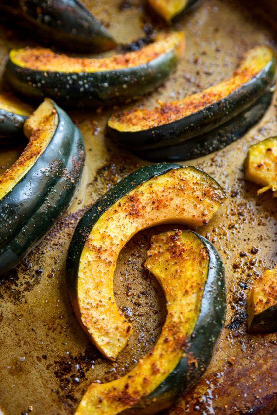 Chili Lime Roasted Acorn Squash Acorn Squash Recipes Food