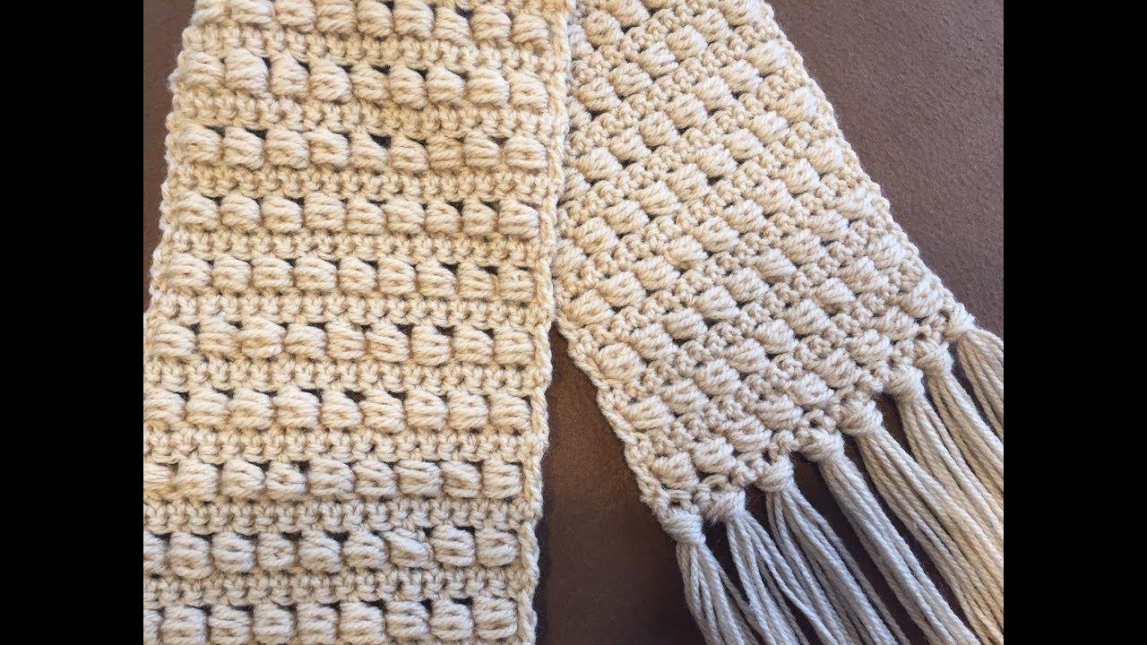 Crochet Scarf Tutorial Beginner Level Easy And Fast Bead Stitch Youtube Crochet Scarf Tutorial Crochet Scarf Easy Scarf Tutorial