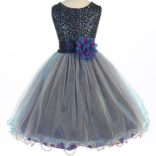 Rainbow colored dresses for girls