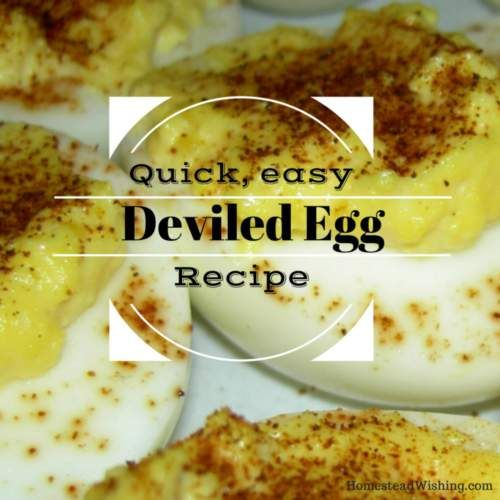 This deviled egg recipe is always a big hit at dinner parties. They are quick, easy, and cheap to put together too! Even the kids can't keep their hand off