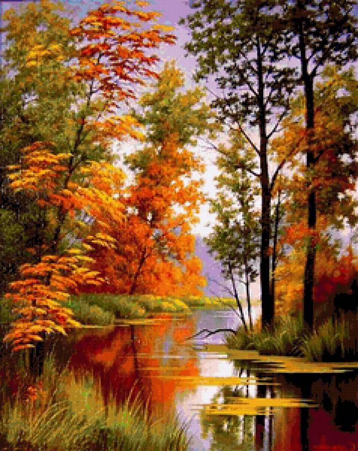 Osen Bienvenidootono Osen Beautiful Paintings Of Nature Autumn Painting Scenery Paintings