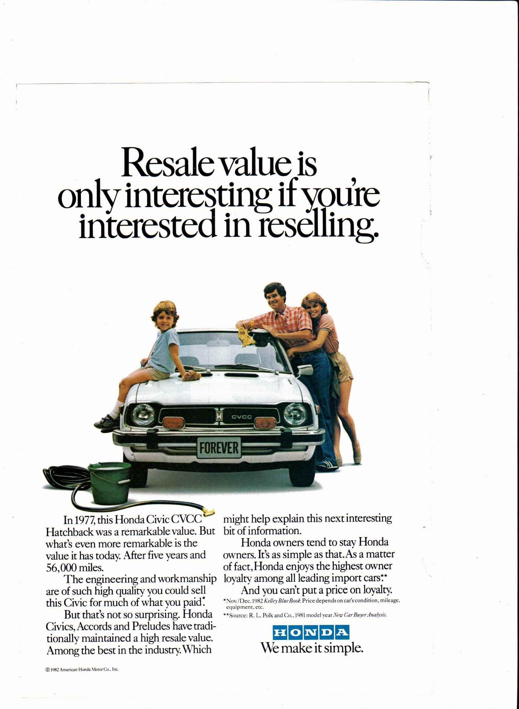1977 Honda Civic Cvcc Ad Vintage Vehicle Ads Pinterest 1970