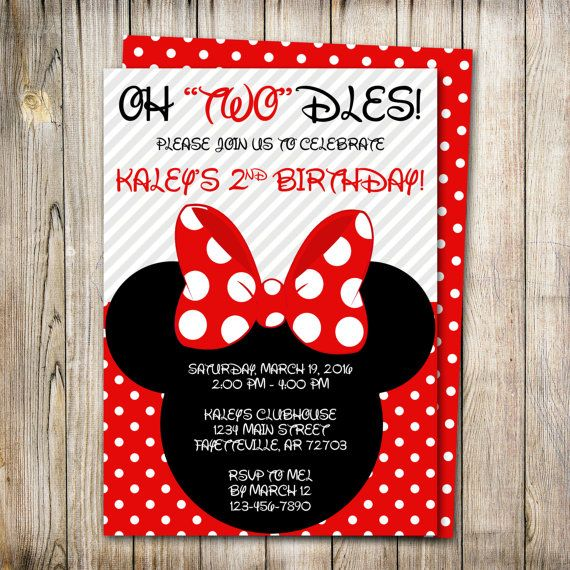 WEEKEND SALE Minnie Mouse Birthday Invitation By ThePaperTrailCo