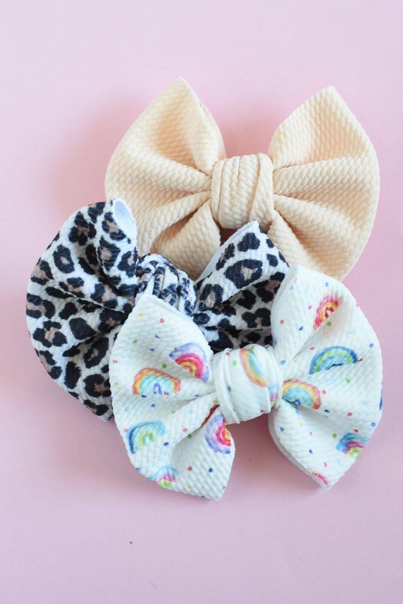 Blush Messy Hair Bow, Blush Messy Bow Clip, Blush Fabric Bow, Large Blush Hair Bow, Blush Hair Bow Clip, Blush Bow Headband, Blush Bow