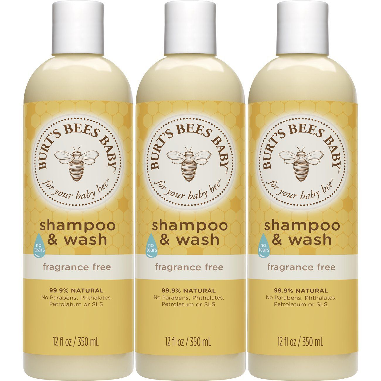 Burts bees baby shampoo and wash fragrance free 12 ounces