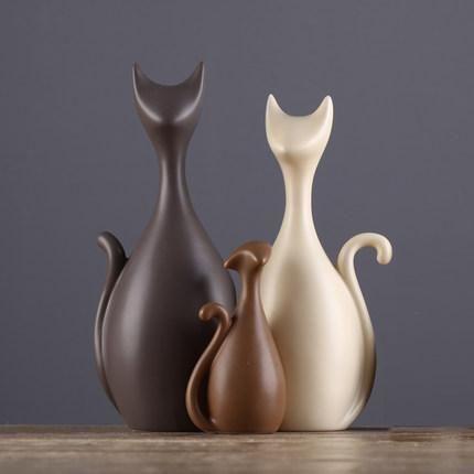 Decorative modern ceramic Cat Statue