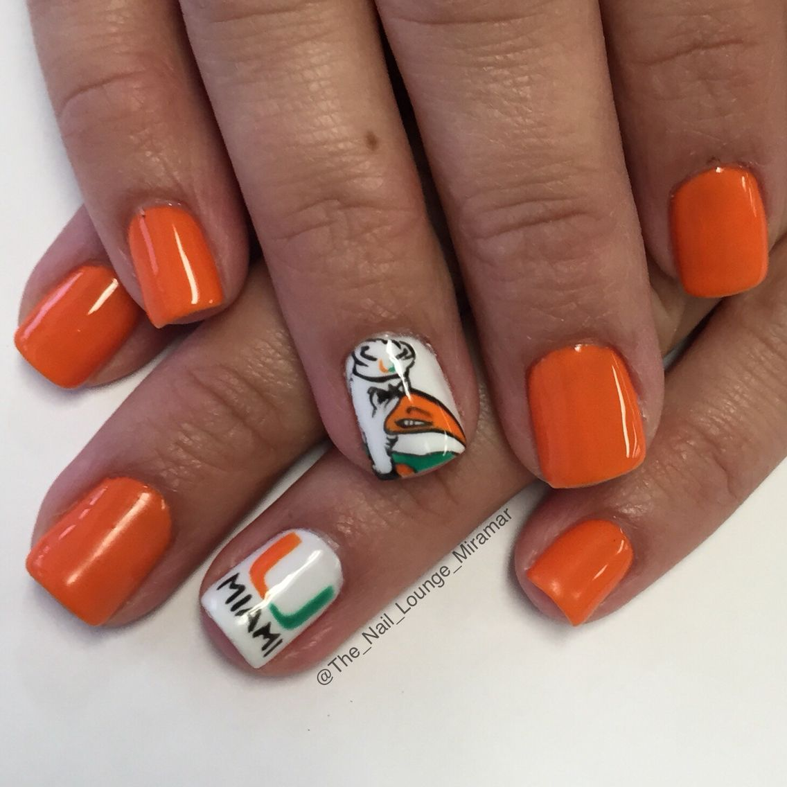 Miami Hurricanes nail art design | Nail Art | Pinterest | Miami ...