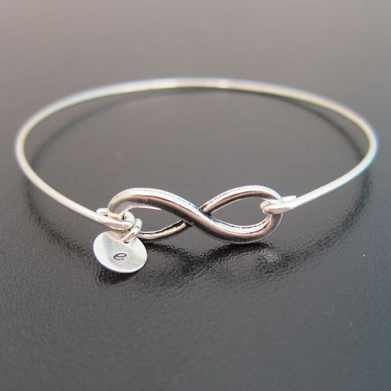 Personalized Infinity Bracelet With Initials Custom Mother Jewelry Monogram Mom
