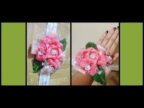 D I Y How To Make A Prom Corsage Como Hacer Un Corsage Para Prom