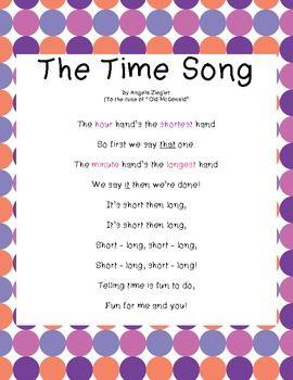 Telling time song lyrics