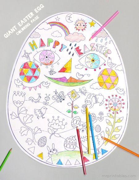 Easter Coloring Pages Mr Printables Knutselen Pasen Doe Het Zelf Pasen Knutselen Voor Pasen