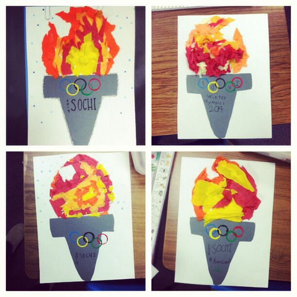 olympic craft ideas for preschool miss ward s studious second graders sochi torch 2014 6982