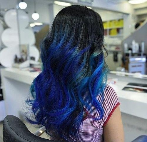 40 Vivid Ideas For Black Ombre Hair Black Hair Ombre Blue Ombre Hair Hair