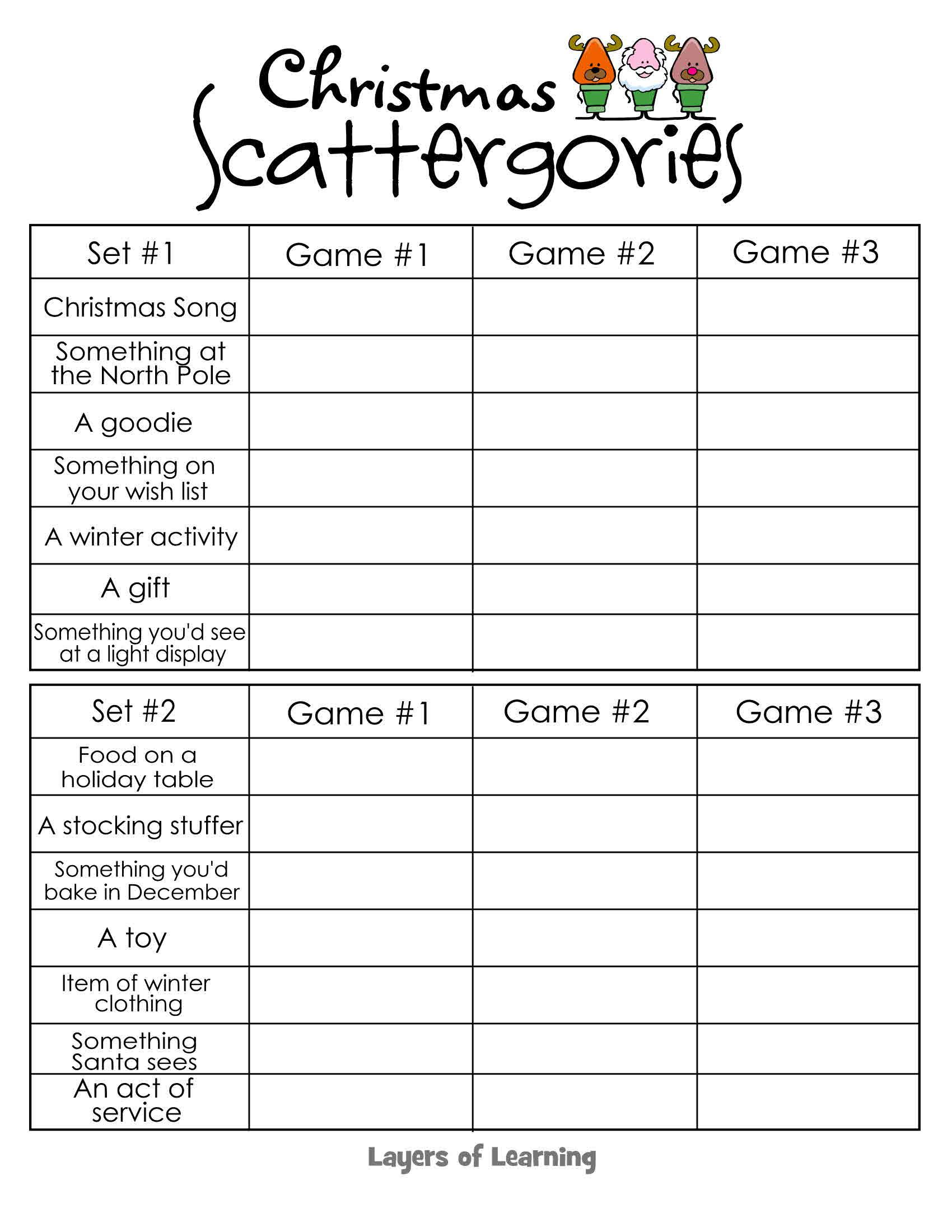 Uncategorized Fun Printable Games free printable christmas scattergories game for a fun that will get your kids thinking while