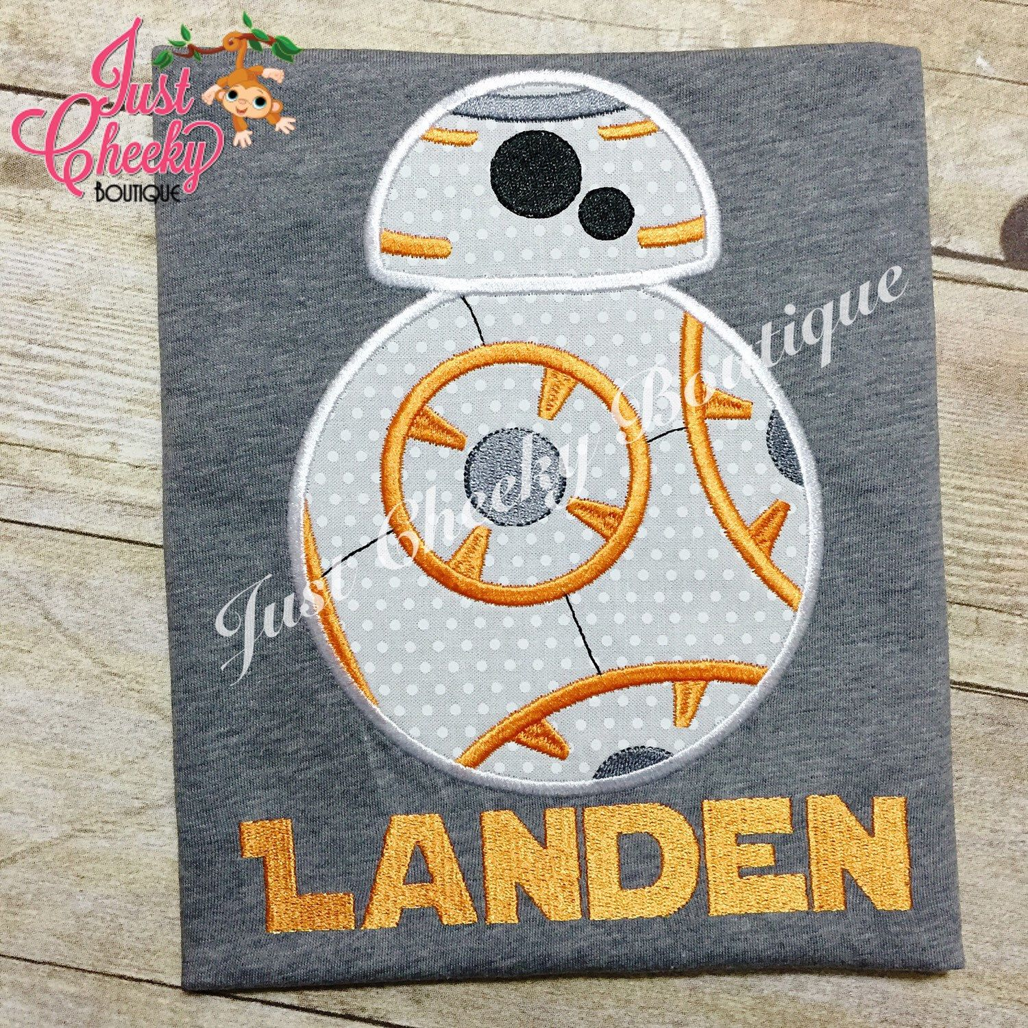 BB8 Inspired - Star Wars Inspired - Kids Embroidered Shirt - Force Friday Shirt - The Force Awakens by JustCheekyBoutiqueTX on Etsy https://www.etsy.com/listing/263298588/bb8-inspired-star-wars-inspired-kids