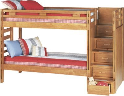 Creekside Taffy 3 Pc Twin Twin Step Bunk Bed I Like That The Drawers Pull Out Horizontally Bunk Beds Bunk Beds With Stairs Bunk Bed Designs