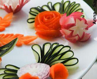Decorazioni piatti con verdura