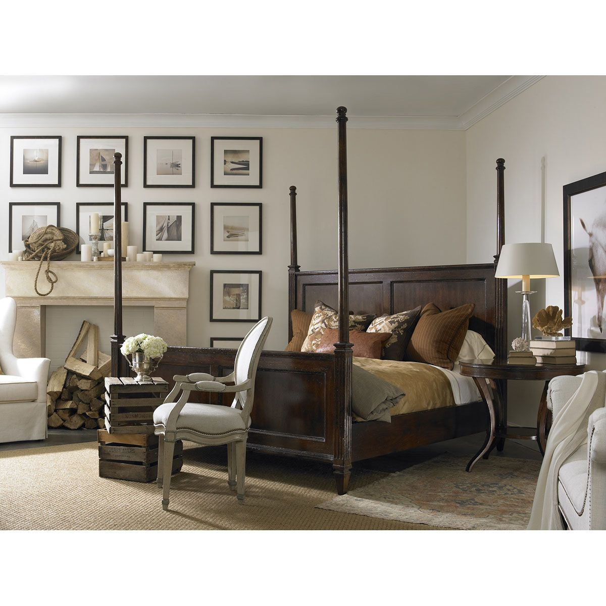 Hickory White King HiLo Poster Bed 86525 Furniture
